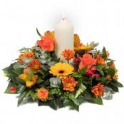 Warm Glow Candle Arrangement